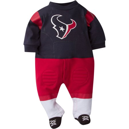 NFL Houston Texans Baby Boys Team Uniform Footysuit with Cleats