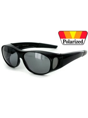5ed264083f9 Product Image 1 PAIR BLACK 100% UV Polarized Sunglass Cover Over Fit  Prescription Sunglasses