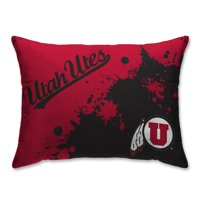 Utah Utes 20'' x 26'' Splatter Print Plush Bed Pillow - Red - No Size