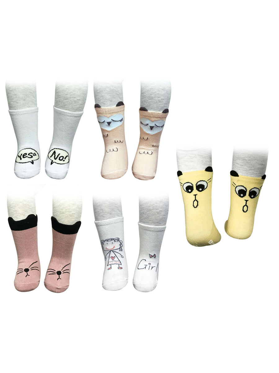 Wrapables® Adorable Pets Baby Socks (Set of 5), Girl
