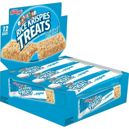 Kellogg's Rice Krispies Treats Marshmallow Square Big Bar, 2.2 oz, 12 Ct
