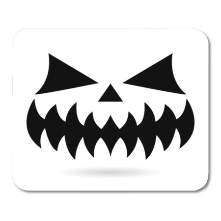 KDAGR Scary Halloween Pumpkin Face Vector Design Ghost or Monster Mouth Mousepad Mouse Pad Mouse Mat 9x10 inch](Scary Halloween Monster Pics)