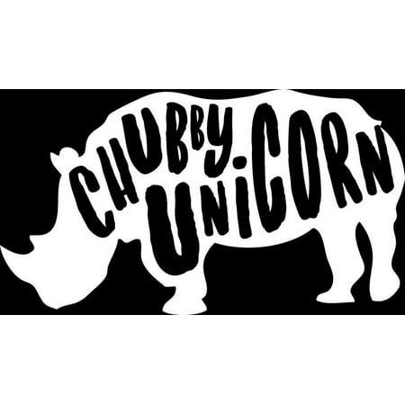 0c3bacc2c49d45 Chubby Unicorn Rino Vinyl Decal Sticker