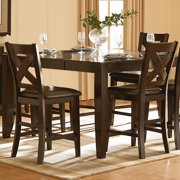 iNSPIRE Q Acton Merlot X-back Counter ight High Back Stool (Set of 2) by  Classic