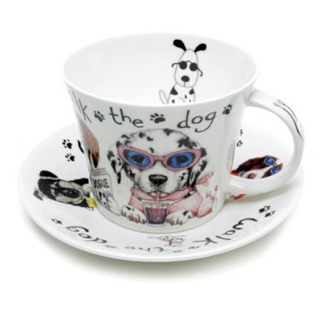 - Roy Kirkham Breakfast Cups & Saucers - Animal Fashion (Dogs) (Set of 2)