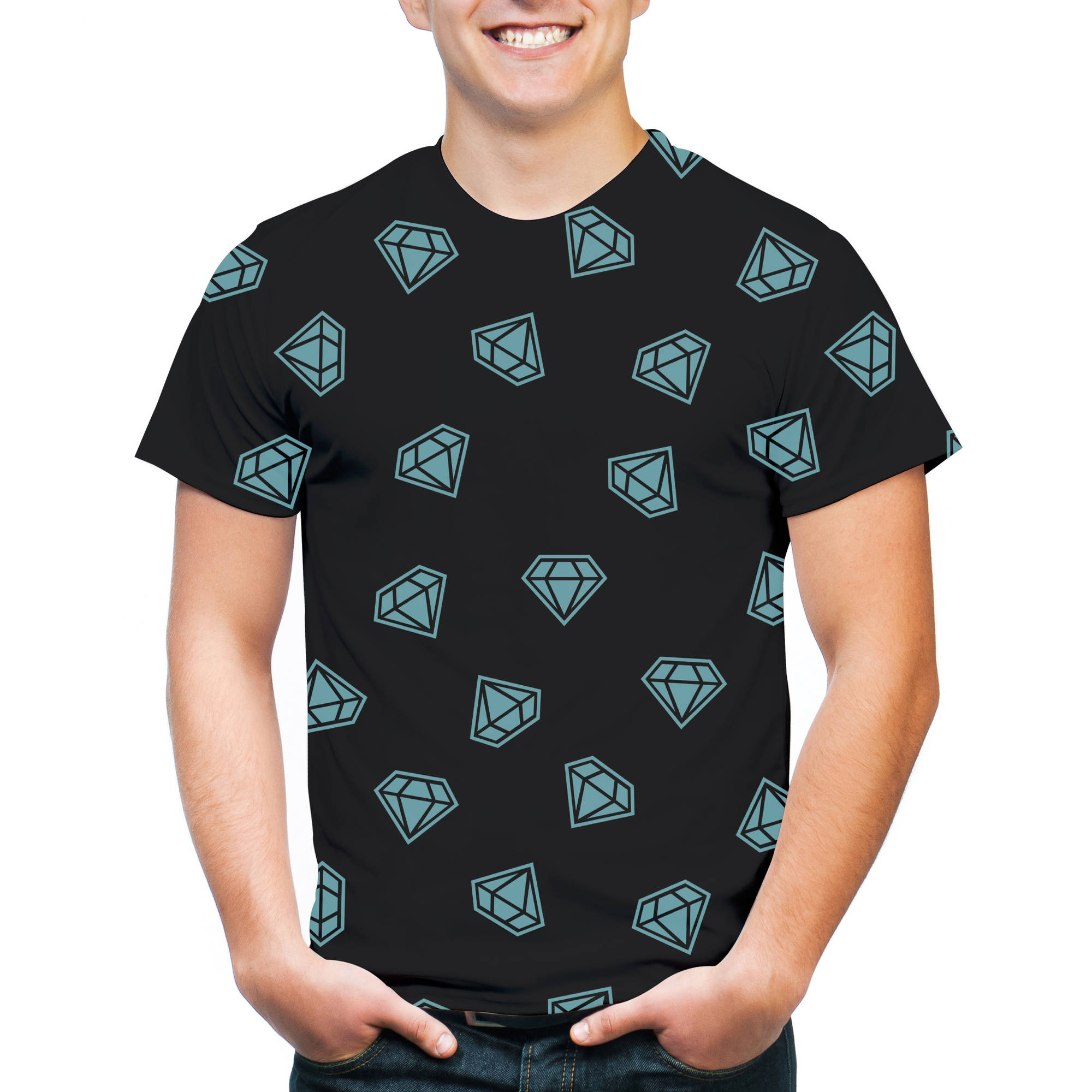 Diamond Allover Belt Men's Graphic Tee