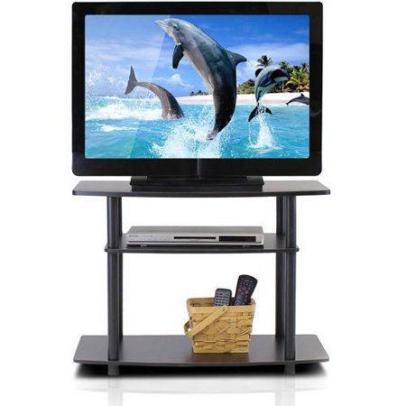 Furinno 13192DBR/BK Turn-N-Tube No Tools 3-Tier TV Stands