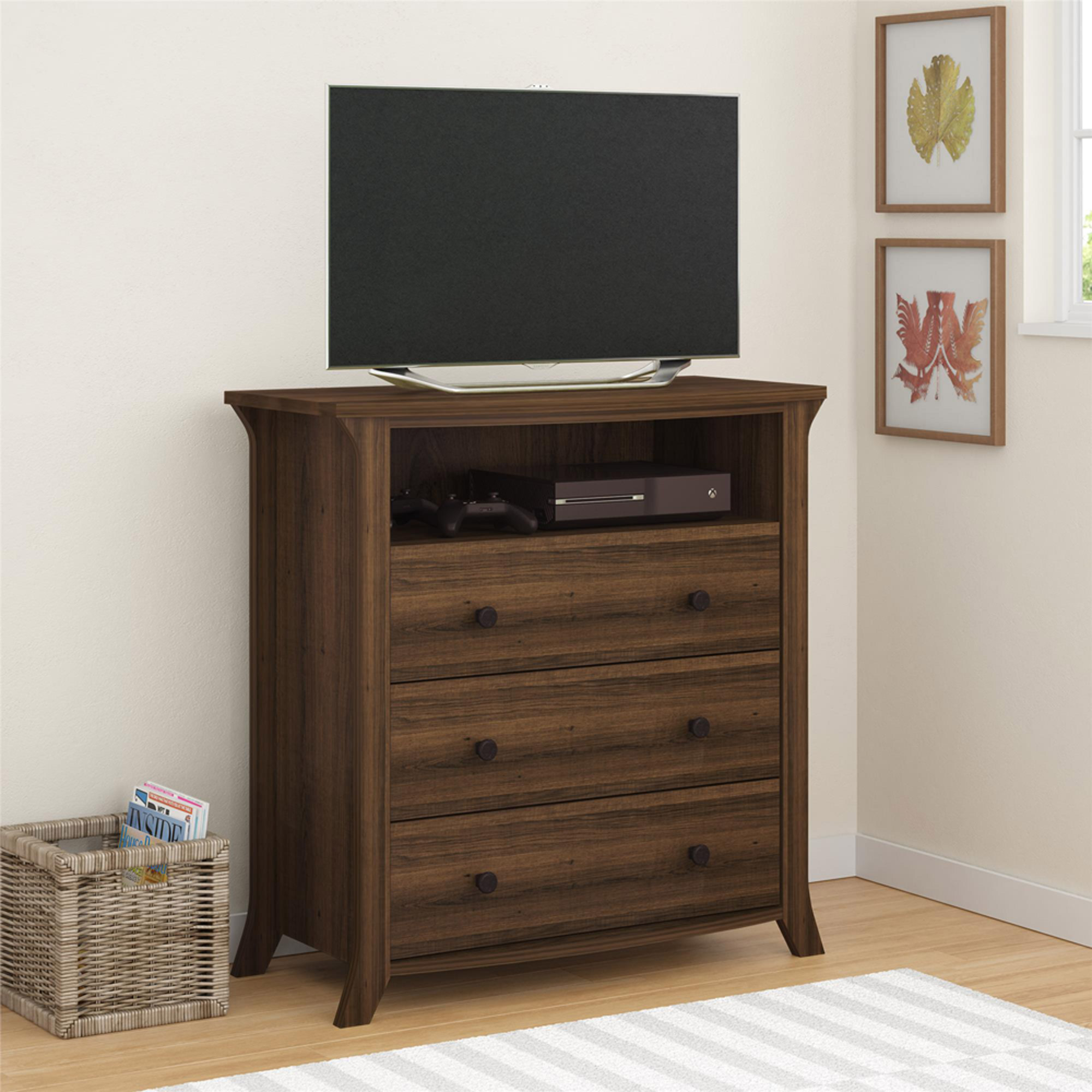 Oakridge 3-Drawer Media Dresser by Altra, Homestead Oak