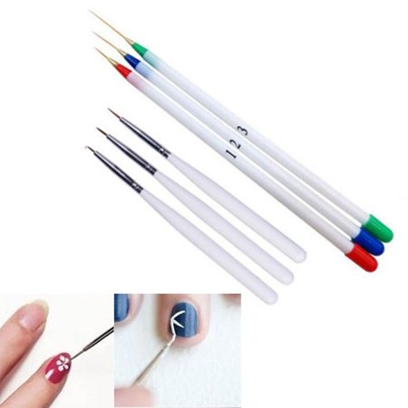 6PCS Nail Art Design Set Dotting Painting Drawing Brush Pen Tools - Painting Halloween Nails