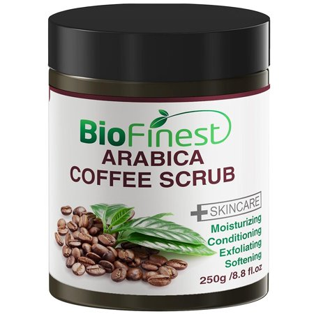 biofinest arabica coffee scrub: best for varicose veins, cellulite, stretch marks, eczema & acne (Best Coffee Scrub For Cellulite)