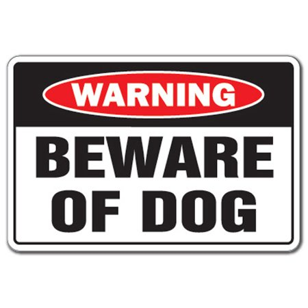 BEWARE OF DOG Warning Sign dog pet parking pit bull signs security guard dog  | Security Sign Office Warning Sign, Office, Business |
