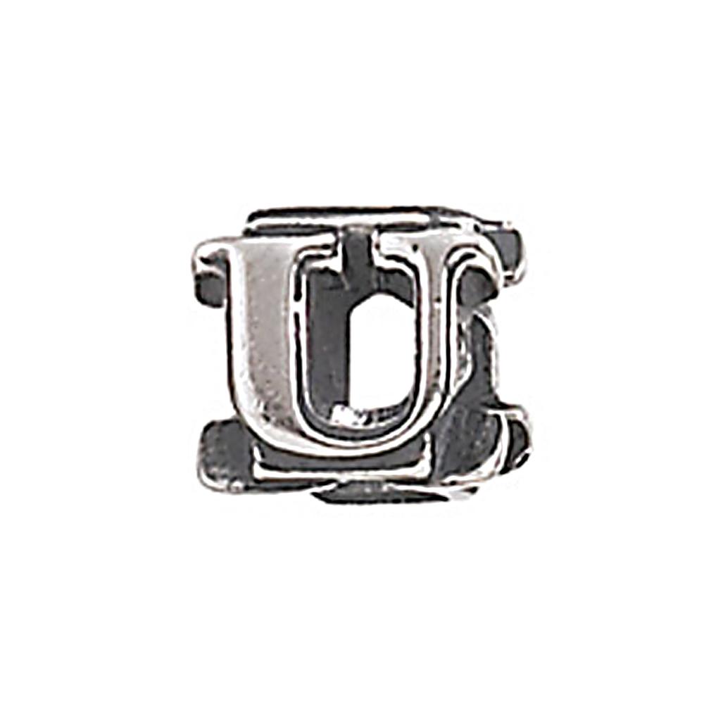 Zable Sterling Silver Initial U Bead