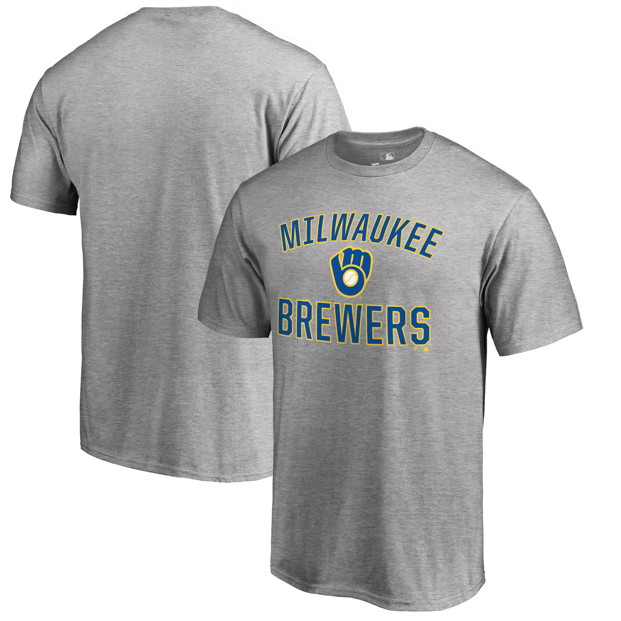 Milwaukee Brewers Fanatics Branded Victory Arch T-Shirt - Heathered Gray