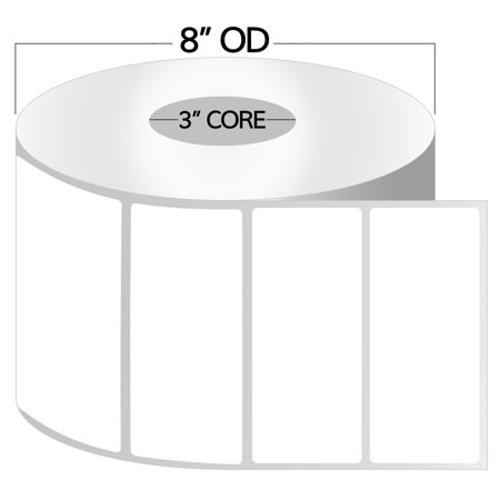 "OfficeSmartLabels 4"" x 2"" Direct Thermal Labels, Removable Zebra Compatible Labels (1 Roll, 750 Labels Per Roll, 1 inch Core, White, 4"" Diameter, Perforated)"