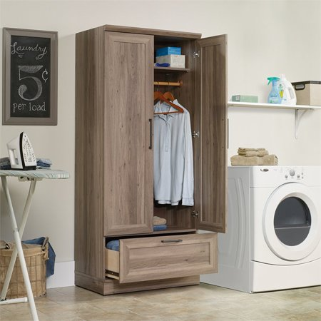 Sauder HomePlus Wardrobe Armoire in Salt Oak | Walmart Canada