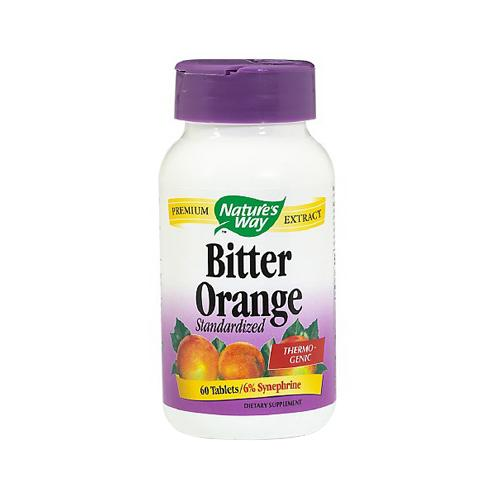 Natures Way Bitter Orange Standardized Thermogenic Extract Tablets - 60 Ea
