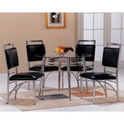 Chair in Chrome and Black Finish - Set of 4