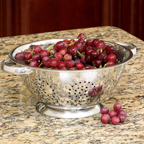 Cook Pro Stainless Steel Colander, 5 qt