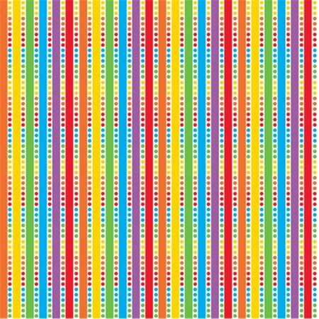 Printed Gift Wrap 5 ft. x 30 in. Roll - Rainbow Birthday