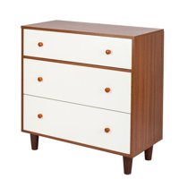 "3 Drawers Nightstand in Home, Solid Wood Storage Cabinet, Compact Dresser Drawer Organizer, Durable File Cabinets, Heavy Duty Side Tables Drawers Hold up to 165 lbs, 32"" x 16"" x 32"", Q2692"