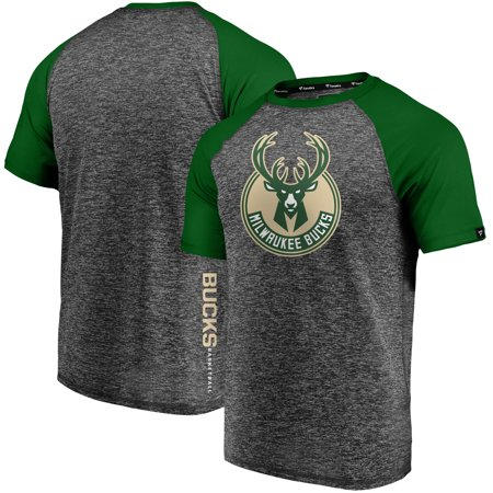 Milwaukee Bucks Fanatics Branded Static T-Shirt - Charcoal