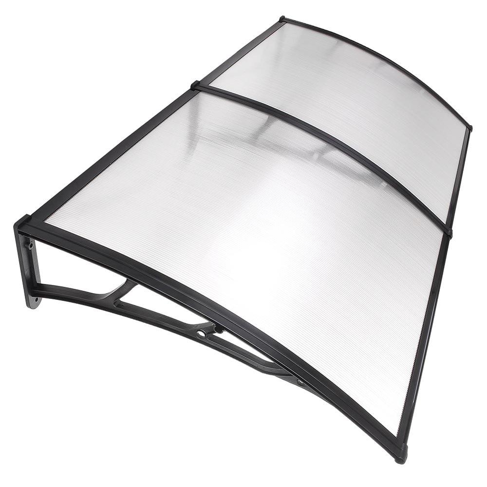 "Zimtown 80""X40"" Window Door Awning Sun Shade Canopy Hollow Sheet UV Rain Snow Protection"