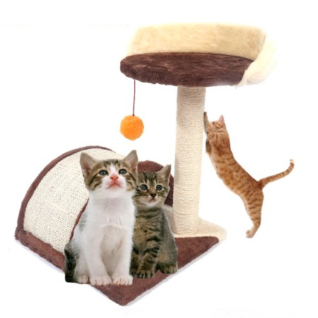 """Zimtown 20"""" Pet Cat Tree Play House Tower Condo Furniture Bed Scratching Post with Toy Balls"""