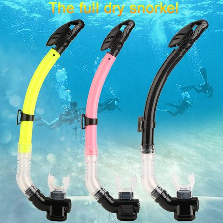 (3 Colors High Quality Silicone Mouthpiece Swimming Snorkel Full Dry Air Breathing Tube, Swimming Snorkel, Breathe Snorkel)