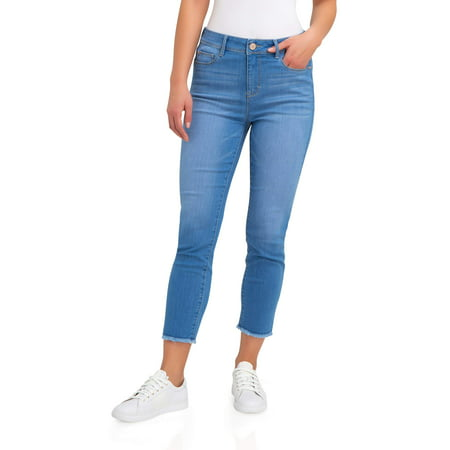 Women's High Rise Cropped Skinny Jeans ()
