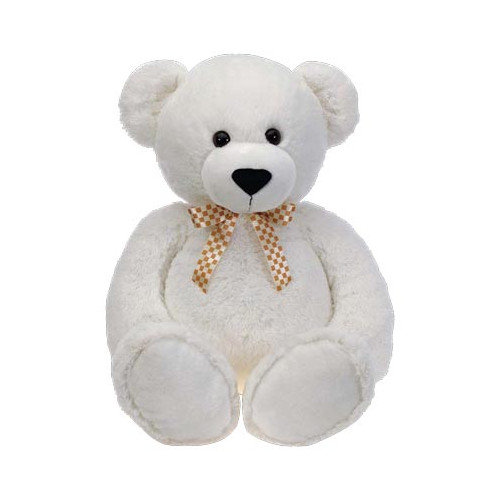 Fiesta A28140 38 in. White Cuddle Bear With Ribbon