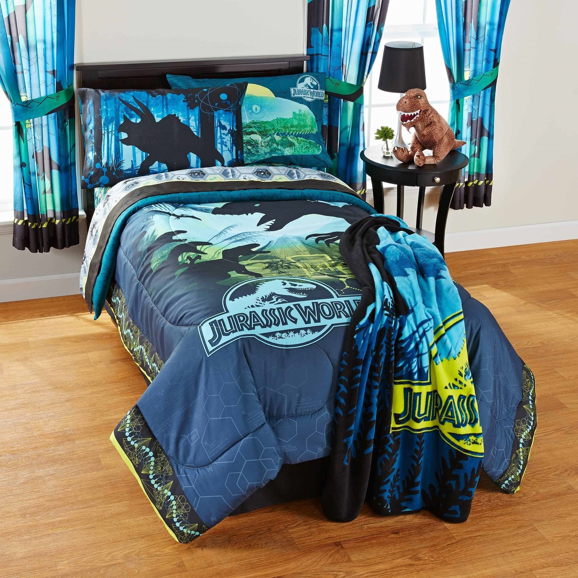 Dream Factory Trucks Reversible Twin Comforter Set with Sheets ...