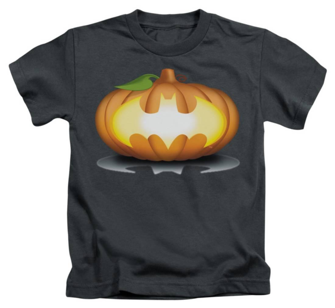 Juvenile: Batman - Bat Pumpkin Logo Apparel Kids T-Shirt - Grey