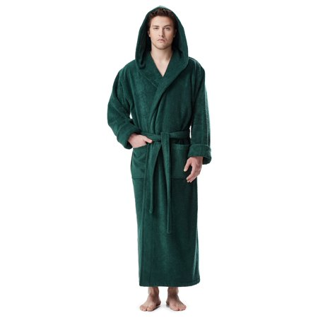 965d1fed2b Arus - Men s Thick Full Ankle Length Hooded Turkish Cotton Bathrobe -  Walmart.com
