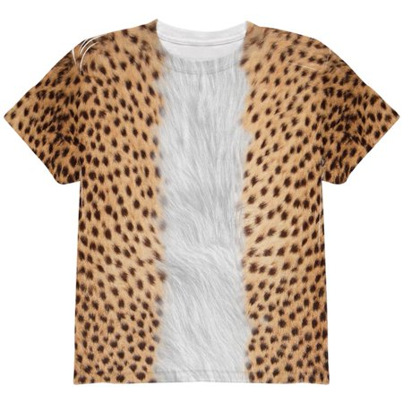Halloween Cheetah Costume All Over Youth T - Womens Cheetah Halloween Costume