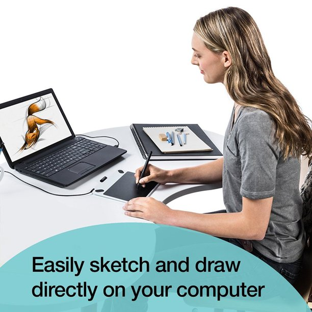 Wacom Intuos Draw CTL490DW Digital Drawing and Graphics Tablet - (Certified  Refurbished) - Walmart.com - Walmart.com