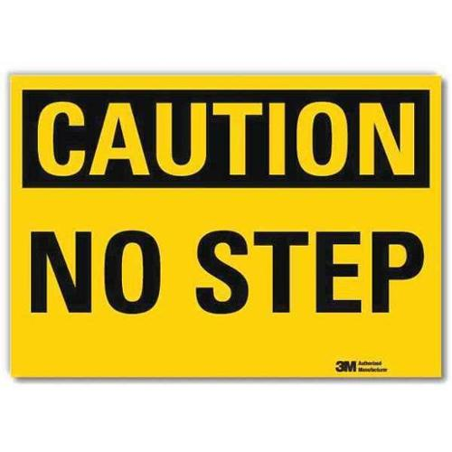LYLE U4-1553-RD_10X7 Safety Sign,No Step,Black/Yellow,10 in W G2278617