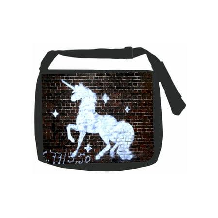 Graffiti Brick Wall Unicorn Print Design - Girls Black School Shoulder  Messenger Bag   Pencil Case Set - Walmart.com 0b8d16a94b0cf