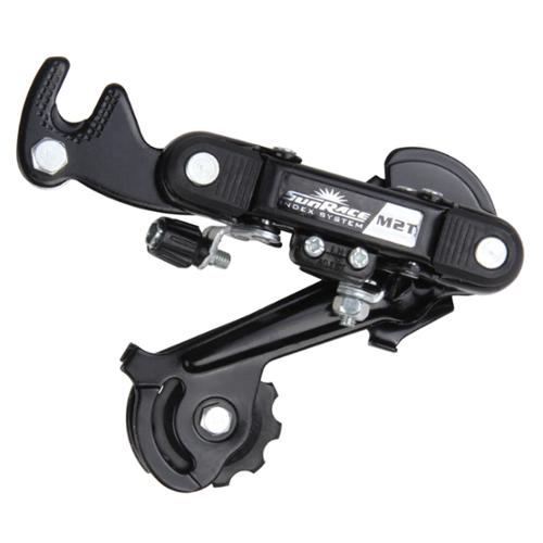 Sunrace RDM2T 6/7 Speed Mountain Bicycle Rear Derailleur with Hanger - RDM2T LB 7/13-28T