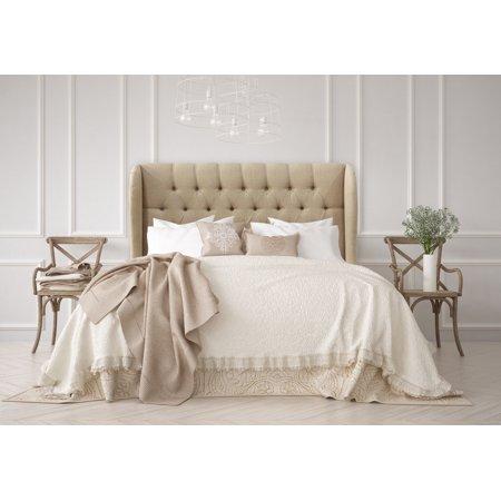 Marlow Tufted Wingback Sandstone Linen Upholstered Headboard, Multiple Sizes - Walmart.com