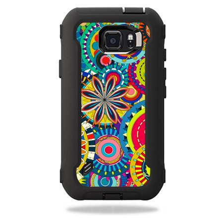 reputable site d00d5 18689 MightySkins Protective Vinyl Skin Decal for OtterBox Defender Galaxy S6  Active Case wrap cover sticker skins Flower Wheels