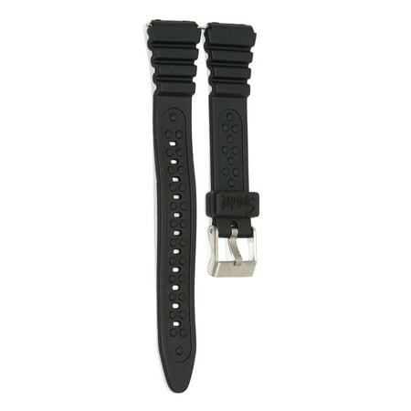 15MM ALL BLACK RUBBER SPORT WATCH BAND STRAP IRONMAN TRIATHLON (Triathlon Neoprenanzüge)