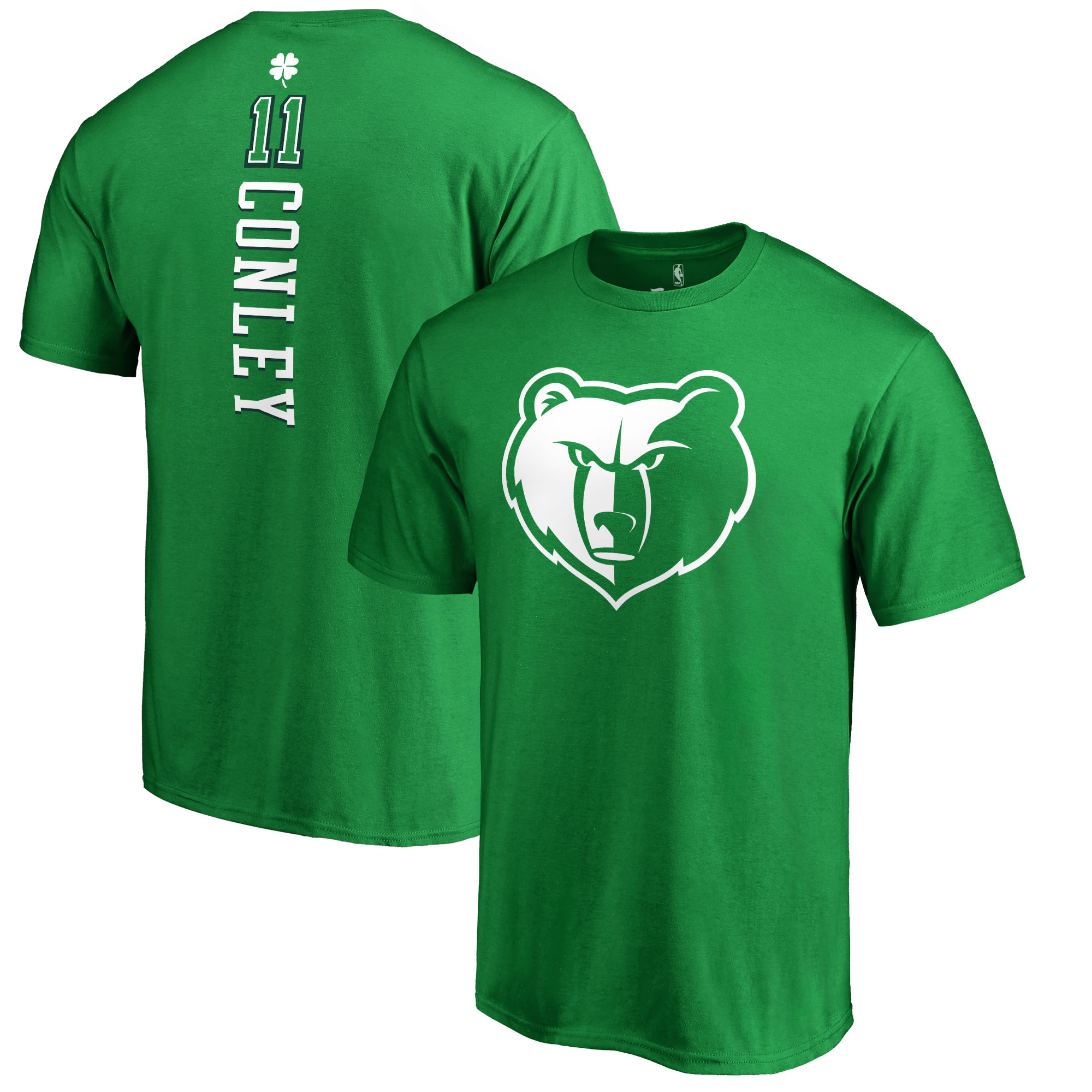 Memphis Grizzlies Fanatics Branded St. Patrick's Day Backer Name & Number Mike Conley T-Shirt - Kelly Green