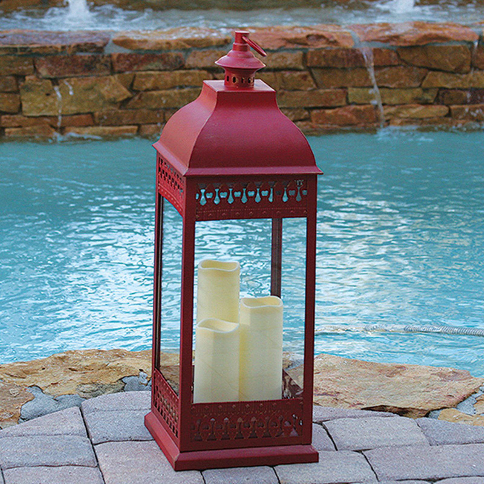 Smart Solar San Nicola LED Candle, Red