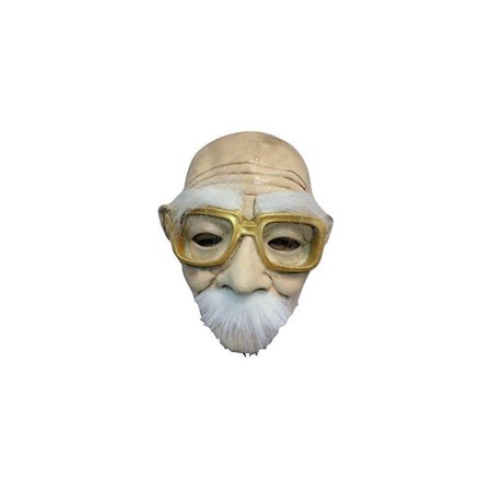 halloween funny creepy old man w/ gold glasses mask - Funny And Creepy
