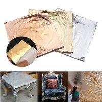 300 Sheets 5.5x5.5''Inch Imitation Gold+Silver+Copper Leaf Foil Gilding Art Craft DIY