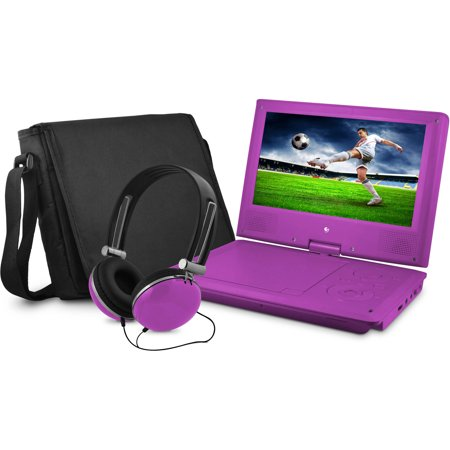 Ematic 7   Portable Dvd Player With Matching Headphones And Bag