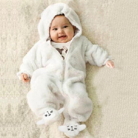 - Newborn Infant Boy Girl Romper Hoodies Jumpsuit Bodysuit Outfits Clothes 0-12M