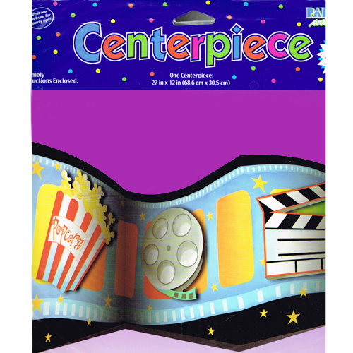 Hollywood Movie Night 'Lights Camera Action' Table Centerpiece (1ct)
