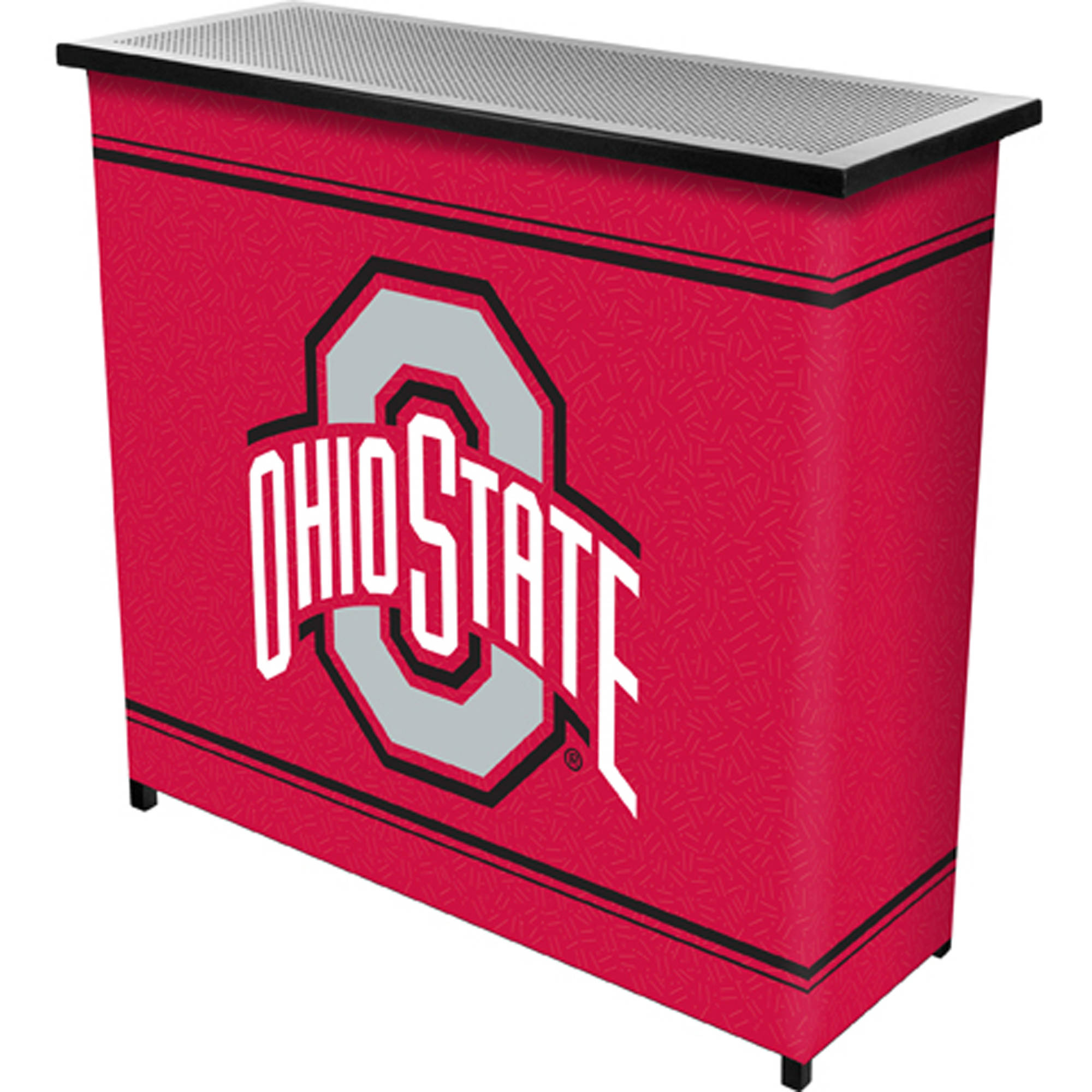 The Ohio State University 2-Shelf Portable Bar with Carrying Case