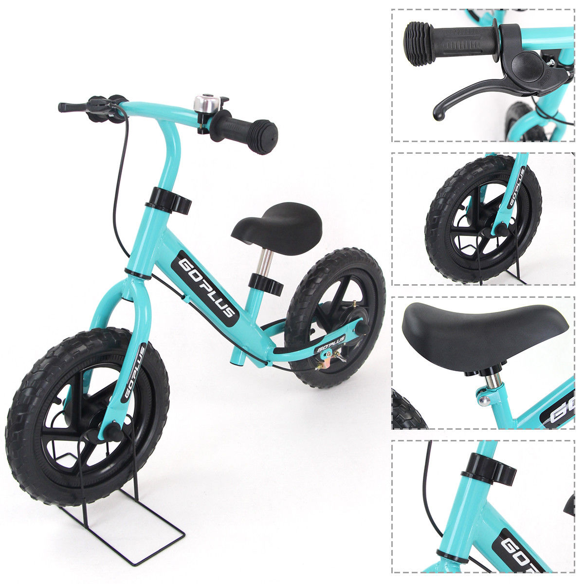 "GHP Navy Color 35""Lx18""Wx24""H Durable Child Balancing Training Bike w Bell and Brake"